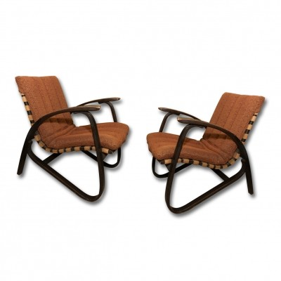 Pair of Jan Vaněk arm chairs, 1930s
