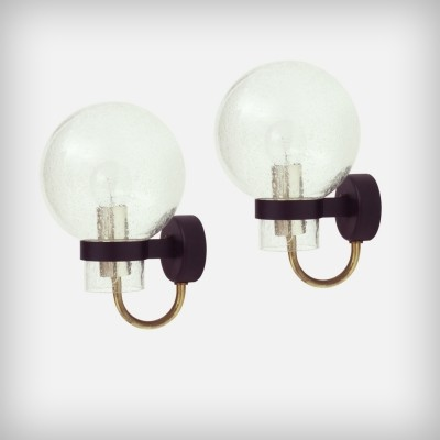 Pair of Glashutte Limburg wall lamps, 1960s