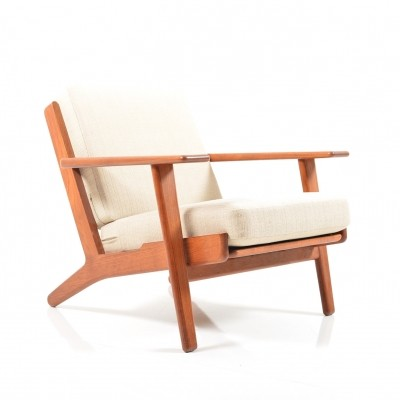GE-290 Easychair in Teak by Hans J. Wegner, 1950s