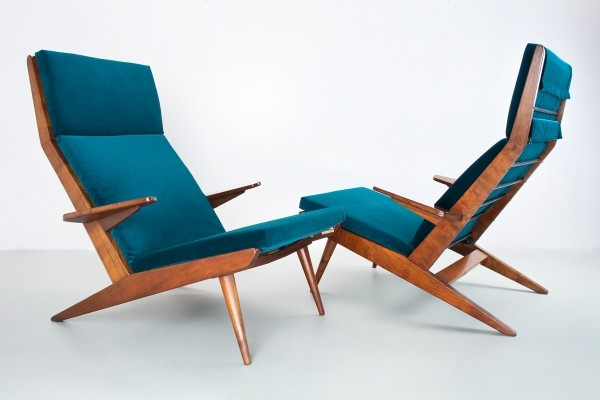 2 x Lotus lounge chair by Rob Parry for De Ster Gelderland, 1960s
