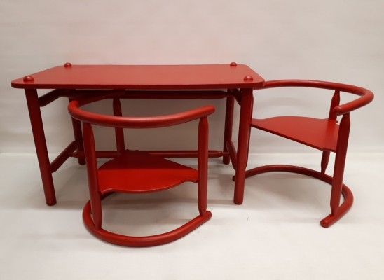 Anna Children's desk with two matching chairs by Karin Mobring for Ikea, 1960s