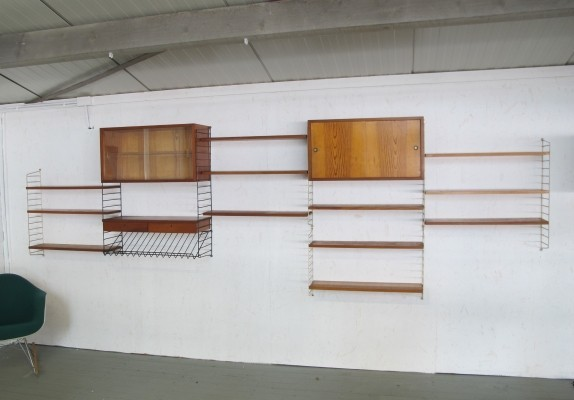 String wall unit by Nisse Strinning for String Design AB, 1960s