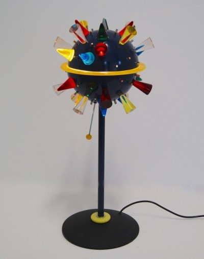 Alessandro Mendini 'Arkab' table lamp with colored volcanic murano glass for Venini