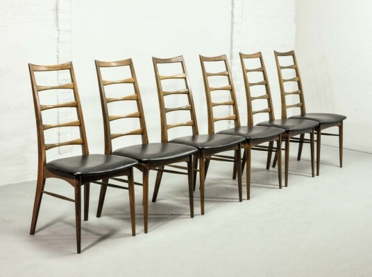 Exclusive Rosewood Set of Six 'Lis' Dining Chairs by Niels Koefoed for Koefoeds Hornslet