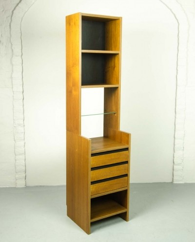 Teak & Glass Book Cabinet by Poul Cadovius for KLM