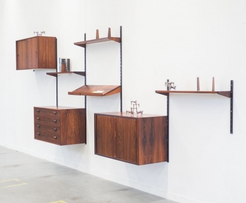 Wall unit by Kai Kristiansen for Feldballes Møbelfabrik, 1950s