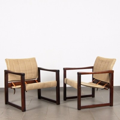 Pair of Diana arm chairs by Karin Mobring, 1970s