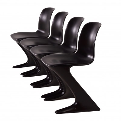 Set of 4 Kangaroo Chairs by Ernst Moeckl for Horn, 1968