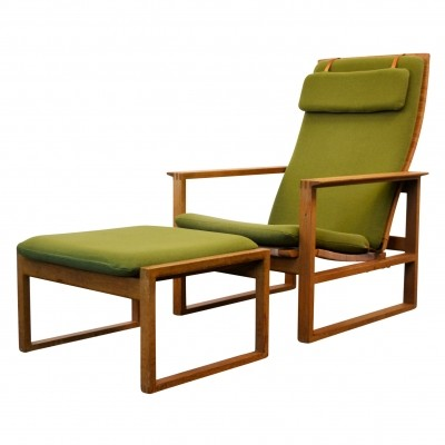 Pair of Model 2256 lounge chairs by Børge Mogensen for Fredericia Stolefabrik, 1960s