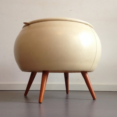 Footstool & storage by FM Mobel, 1950s