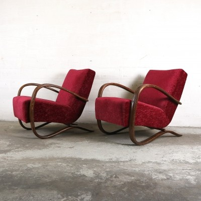 H269 lounge chair by Jindřich Halabala, 1930s