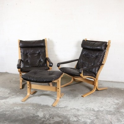 Pair of lounge chairs by Ingmar Relling for Westnofa, 1970s