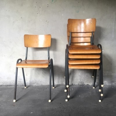 18 School chairs, 1950s