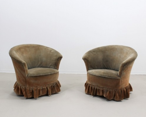 Pair of vintage arm chairs, 1940s