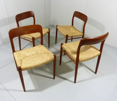 Model 75 chairs by Niels Møller for JL Møller Mobelfabrik, 1960s