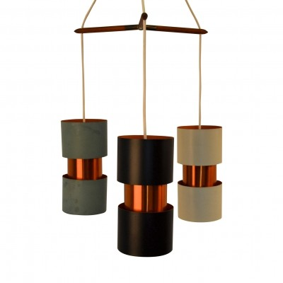 Danish design copper hanging lamp from the 60's