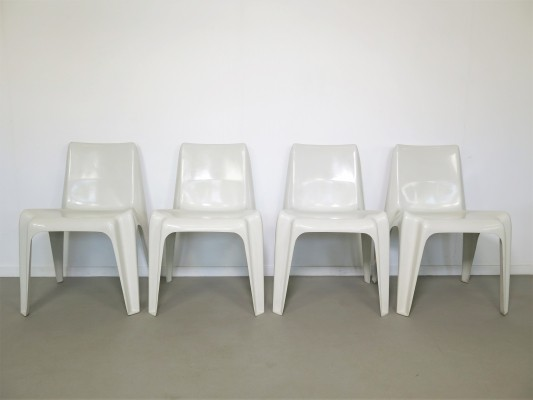 Set of 4 BA1171 dinner chairs by Helmut Bätzner, 1960s