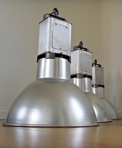 12 x Large aluminum workshop lamp, 1960s