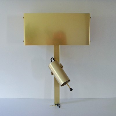 25 x gilded aluminum wall lamp for headboard by Pierre Vandel, 1960s