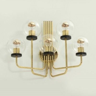 Large Italian Brass Sconce from 1950s