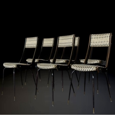 Italian Elegant Midcentury set of chairs, 1940s