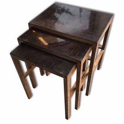 H-50 nesting table by Jindřich Halabala for Thonet, 1930s