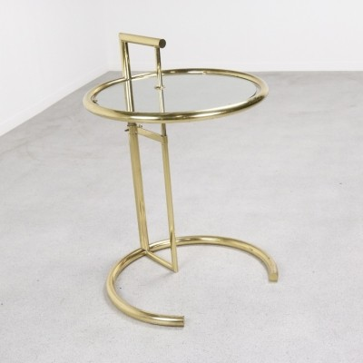E 1027 Brass side table by Eileen Gray, 1950s