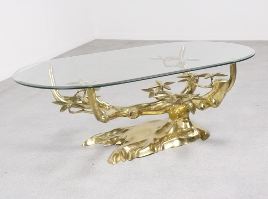 Bonsai sculptural coffee table by Willy Daro, 1970s
