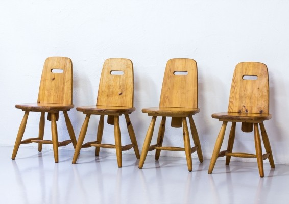 Set of 4 Pirrti dining chairs by Eero Aarnio for Laukaan Puu Finnland, 1960s