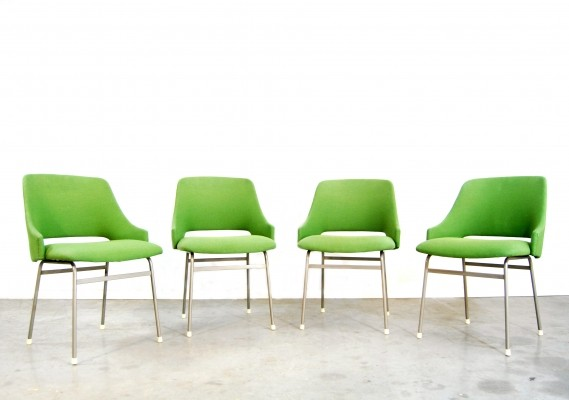Set of 4 FM32 dinner chairs by Cees Braakman for Pastoe, 1970s