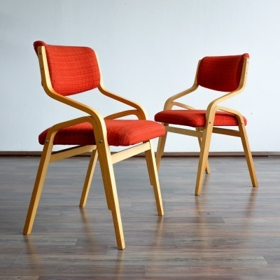 2 x Hoffman - JV dinner chair by Dřevopodnik Holešov, 1960s