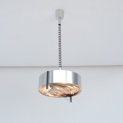 Minimal French Pendant Lamp of the 1970s
