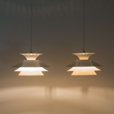 Pair of Carina hanging lamps by Design Light, 1970s