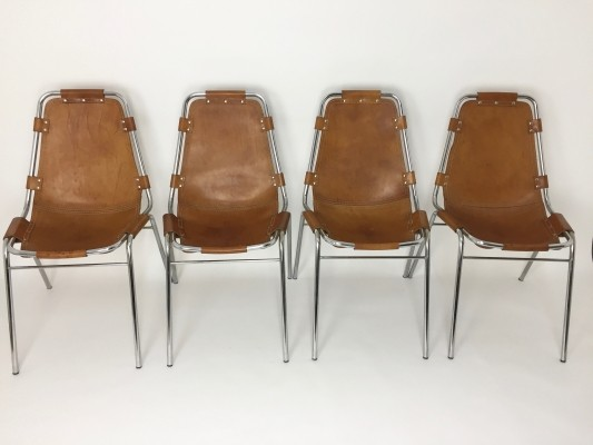 Set of 4 Les Arcs dinner chairs by Charlotte Perriand, 1960s