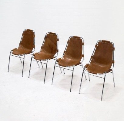 Set of 4 Charlotte Perriand Dining Chairs for Les Arcs