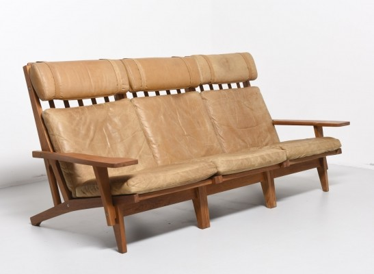 GE-375/3 sofa by Hans Wegner for Getama, 1950s