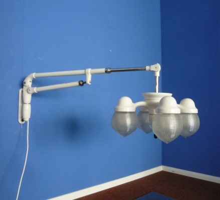 Art Deco Metal Articulated Arm Wall Lamp 1930s