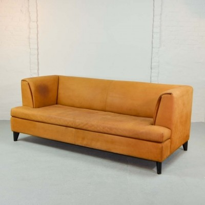 Cognac Colored Nubuck Leather Sofa by Paolo Piva for Wittmann