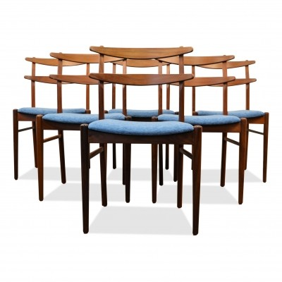 Set of 6 Danish design teak dining chairs, 1960s