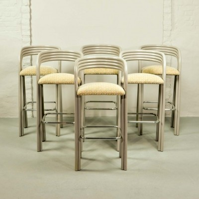 Luxurious Dutch Design Barstools by Jan des Bouvrie for Rohé Holland