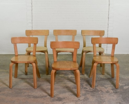 Set of 6 model 69 Alvar Aalto chairs for Artek, 1930s