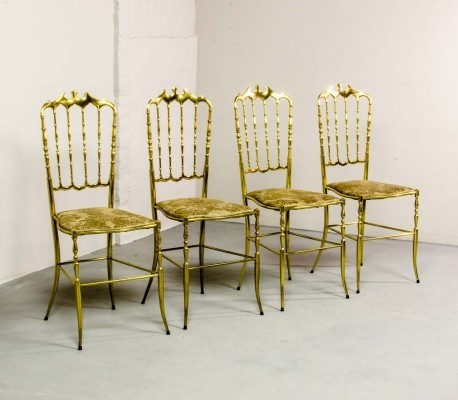 polished brass chiavari chairs by giuseppe gaetano descalzi 1950s