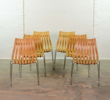 Mid-Century Stackable Junior Dining Chairs by Hans Brattrud, 1950s