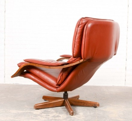Majestic Mid-Century Scandinavian Swivel Relax Lounge Chair, 1960s