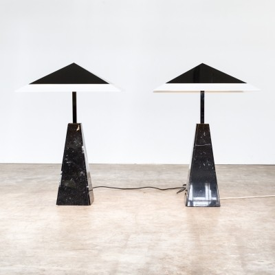 Pair of Abat Jour desk lamps by Cini Boeri for Arteluce, 1970s
