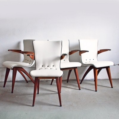 Set of 4 Swing dinner chairs by G. van Os for Van Os Culemborg, 1950s