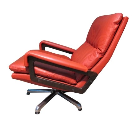 Vintage Strässle international King lounge chair by André Vandenbeuck, 1965