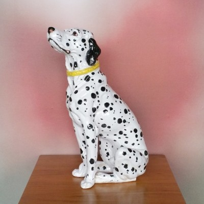 Vintage Italian Ceramic Hand-painted Dalmatien Dog