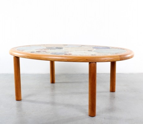 Coffee table by Tue Poulsen for Haslev, 1970s