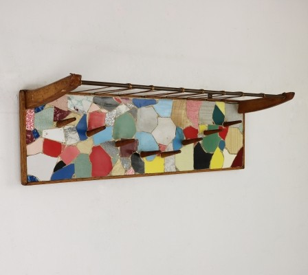Artist made fifties wall coat rack